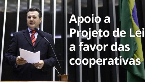 Apoio a Projeto de Lei a favor das cooperativas